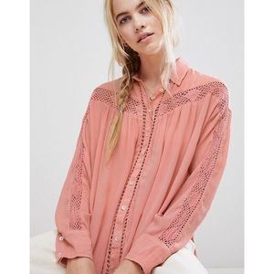 Free People Buttoned Down Shirt 🌿